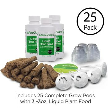 Grow Anything Seed Pod Kit - 25 Pack w/ Stick On Labels
