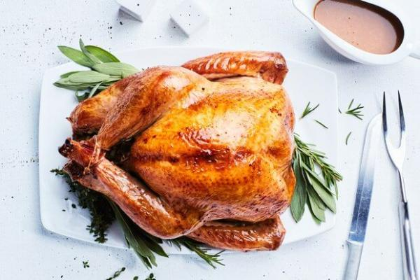 Salted Roast Turkey with Herbs and Shallot-Dijon Gravy