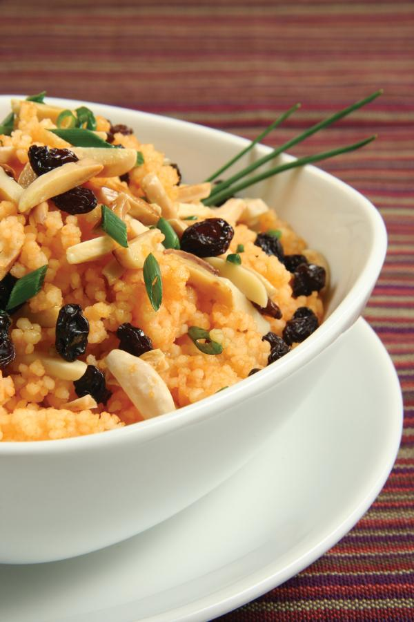 Carrot Couscous with Currants