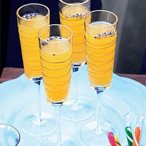 LAVENDER AND PEACH BELLINI