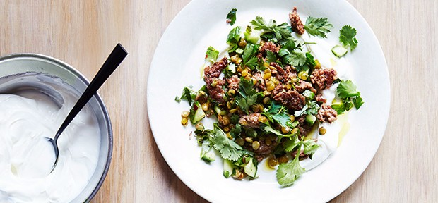 Spicy Lamb & Lentils with Herbs & Cucumber