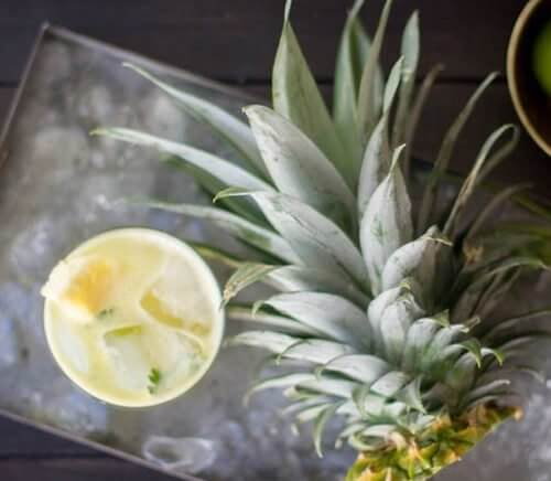 Pineapple and Cilantro Moscow Mule