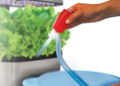 Rinse and Refill Siphon: Keep your water tank fresh with no mess.