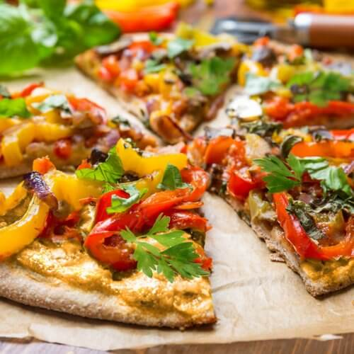 Tuscan Bell Pepper Pizza