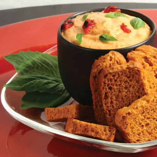 Roasted Red Pepper-Basil Dip