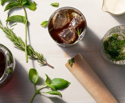 Mint Infused Cold-Brew Coffee
